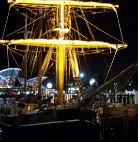 Sydney Harbour Tall Ships Wine & Canapés Dinner Cruise POP