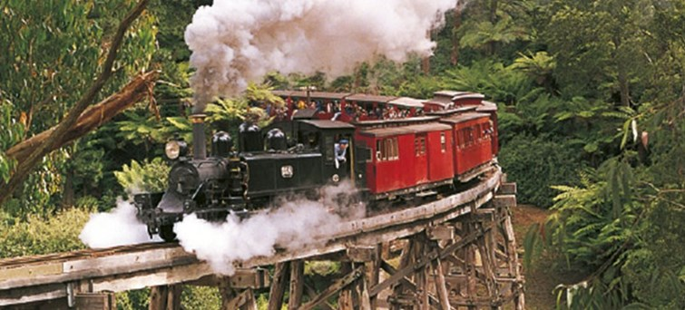 Puffing Billy Heritage Steam Train