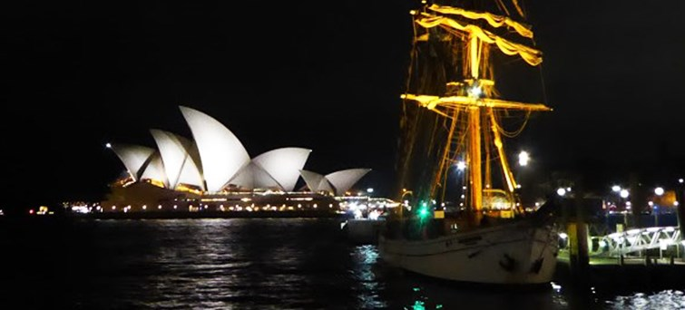 Sydney Harbour Tall Ships Wine & Canapés Dinner Cruise BNR1