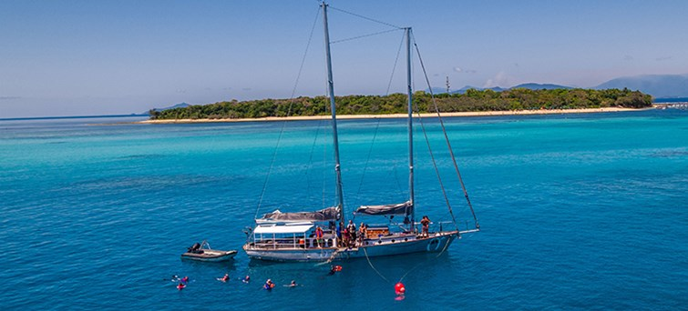 AUCNS Ocean Free Sail & Snorkel To Green Island With Optional Scuba Diving BNR1